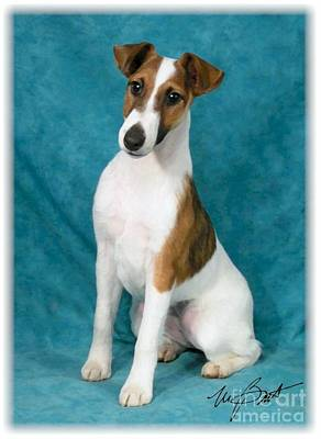 Fox Terrier Puppy Digital Art - Smooth Fox Terrier Pup by Maxine Bochnia