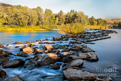 Smooth Rapids Print by Robert Bales
