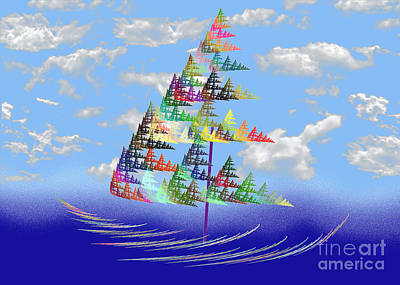 Digital Art - Smooth Sailing by Andee Design