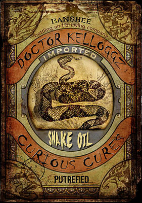 Digital Art - Snake Oil by Nada Meeks