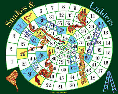 Digital Art - Snakes And Ladders by Eric Edelman