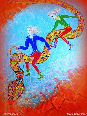 Snake's Riders Art Print