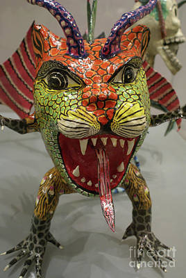Photograph - Snarling Alebrije Monster Mexico by John  Mitchell