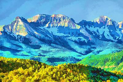 Sneffels Range Art Print