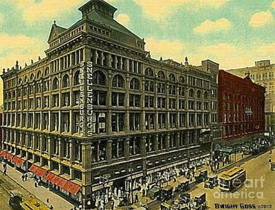 Philadelphia Pa Painting - Snellenburg's Department Store In Philadelphia Pa Around 1910 by Dwight Goss