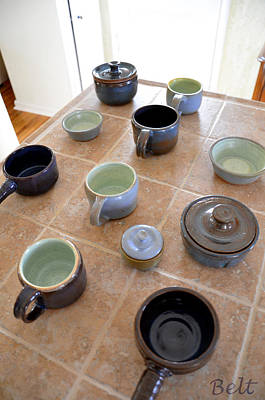 Glazed Pottery Photograph - Snickerhaus Pottery by Christine Belt