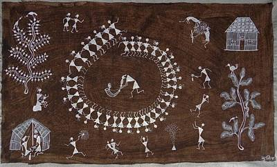 Indian Tribal Art Painting - Snm 08 by Sunita Sadashiv Mashe