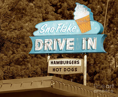 Photograph - Sno-flake Drive In Lake Tahoe by Jim And Emily Bush