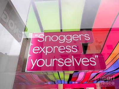 Frozen Yogurt Photograph - Snoggers Express Yourselves by Beth Saffer