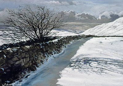 Snow Above Barbondale - Barbon Art Print by John Cooke