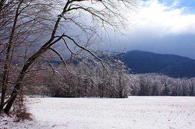Art Print featuring the photograph Snow And Ice by Paul Mashburn