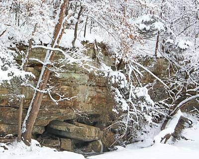 Snow And Sandstone Art Print