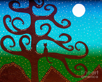 Snow And The Cattail Tree Art Print