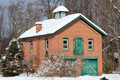 Photograph - Snow Barn - Front by RobLew Photography