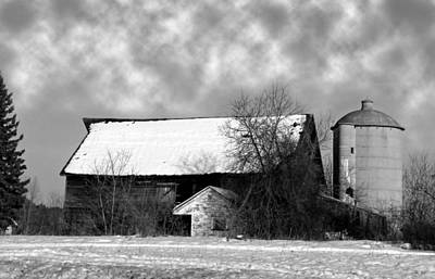 Photograph - Snow Barn by Ms Judi