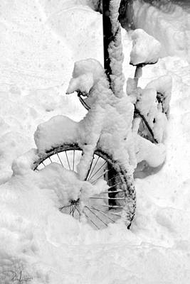Photograph - Snow Bicicle by Raffaella Lunelli