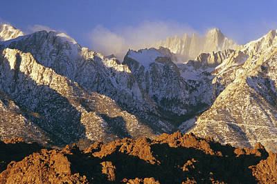 Snow Blows From Mount Whitney. The Art Print by Phil Schermeister