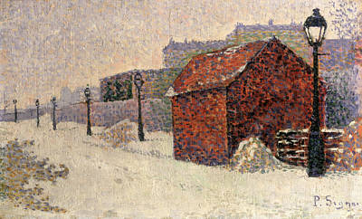 Winter Light Painting - Snow Butte Montmartre by Paul Signac