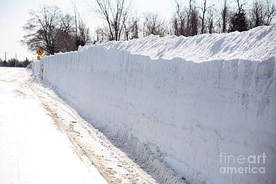 Snow Removal Photograph - Snow By The Roadside by Ted Kinsman