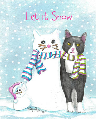 Painting - Snow Cats by Terry Taylor