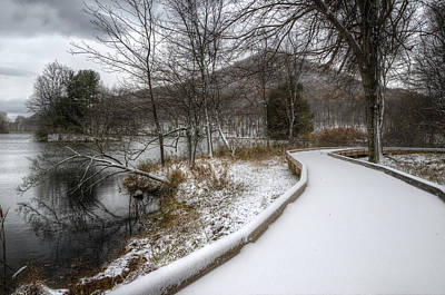 Photograph - Snow Covered Pathway 2 by Steve Hurt