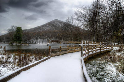 Snow Covered Pathway 3 Art Print by Steve Hurt