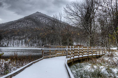 Photograph - Snow Covered Pathway by Steve Hurt