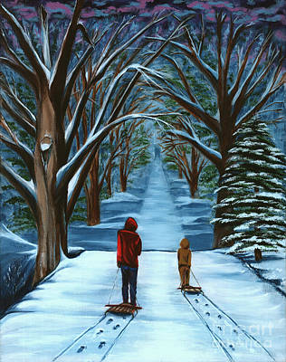 Snow Day Art Print by Gail Finn