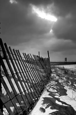 Photograph - Snow Fence by At Lands End Photography