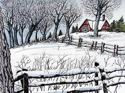 Art Print featuring the painting Snow Field by Terry Banderas