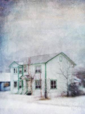 Flurries Photograph - Snow Flurry 'round My Neighbor's House by Priska Wettstein