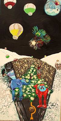 Mixed Media - Snow Globe by Lisa Kramer