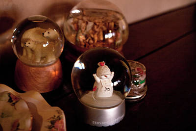 Photograph - Snow Globes by Lorraine Devon Wilke