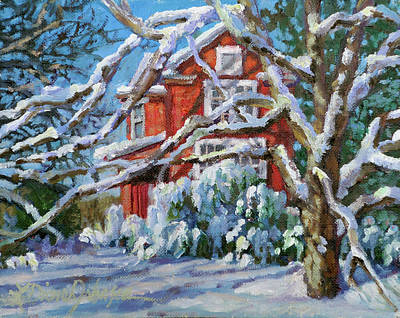 Painting - Snow Glow by L Diane Johnson