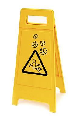 Snow Hazard Warning Sign Art Print by Lth Nhs Trust