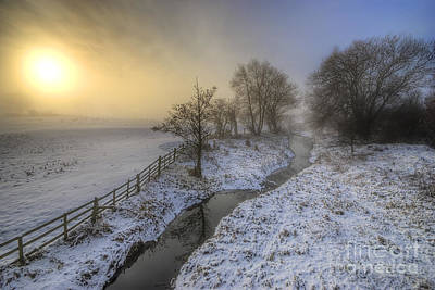 Photograph - Snow Landscape Sunrise 2.0 by Yhun Suarez