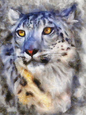 Painting - Snow Leopard by Jai Johnson