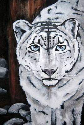 Painting - Snow Leopard by Jill Sluka