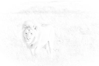 Muscular Digital Art - Snow Lion by Darcy Michaelchuk