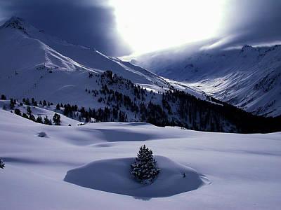 Snow Mountain Austria  Print by Colette V Hera  Guggenheim