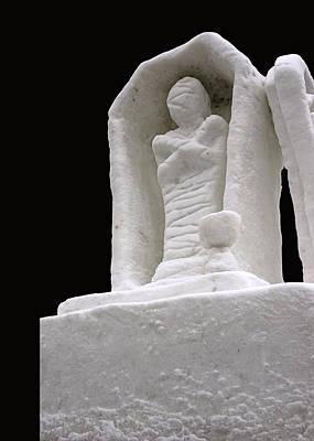 Carving Photograph - Snow Mummy by LeeAnn McLaneGoetz McLaneGoetzStudioLLCcom