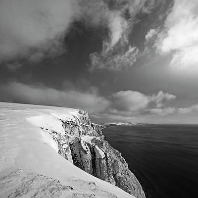 Snow On Highdown, Freshwater, Isle Of Wight Art Print by s0ulsurfing - Jason Swain