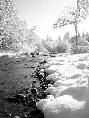 Photograph - Snow On The River by Peter Mooyman