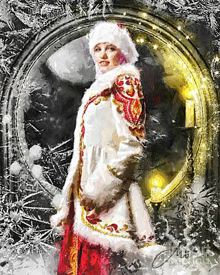 Hidden Face Digital Art - Snow Queen by Mo T