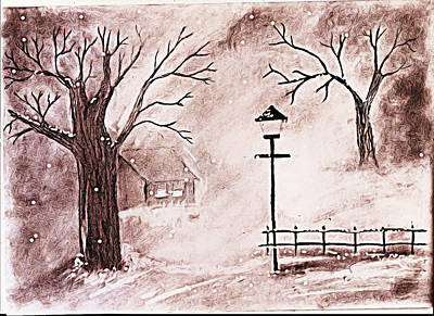 Snow Art Print by Sanjay Avasarala