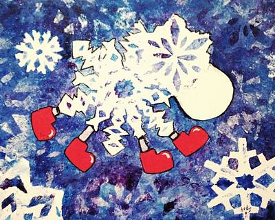 Painting - Snow Sheep Red Wellies by Sheep McTavish