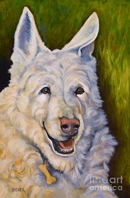 Painting - Snow Shepherd by Susan A Becker