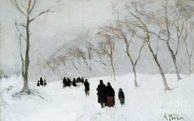 Winter Scenes Painting - Snow Storm by Anton Mauve