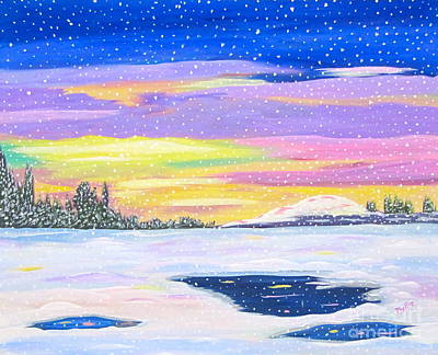 Painting - Snow Storm by Phyllis Kaltenbach
