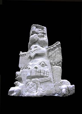 North America Photograph - Snow Totem Pole by LeeAnn McLaneGoetz McLaneGoetzStudioLLCcom